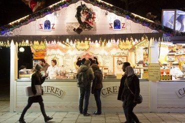 Christmas market on the Champs-Élysées