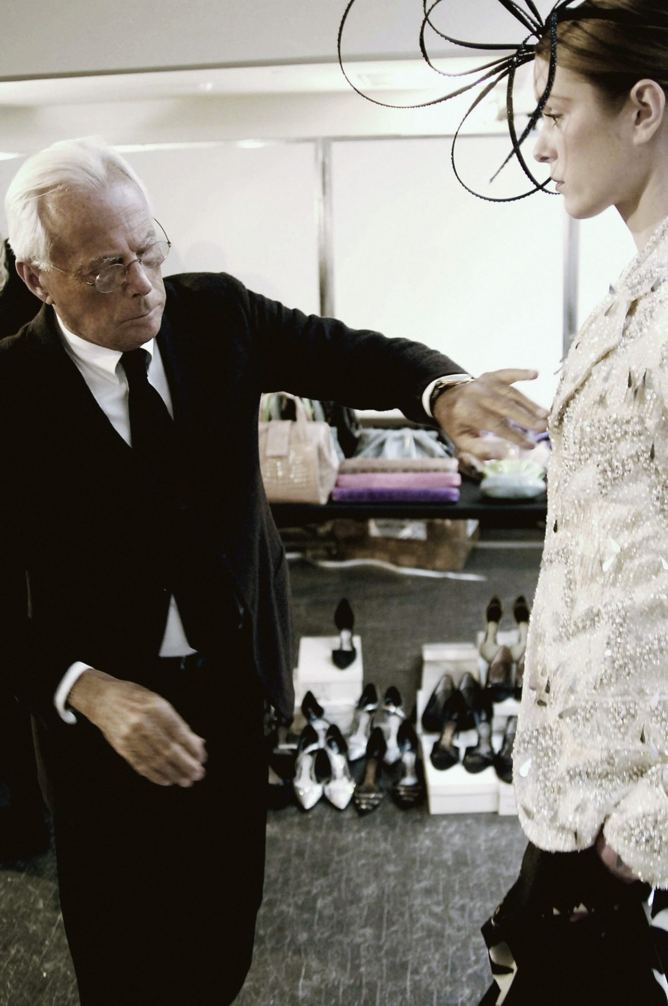 Giorgio Armani at work – credit Giorgio Armani Archive (6)
