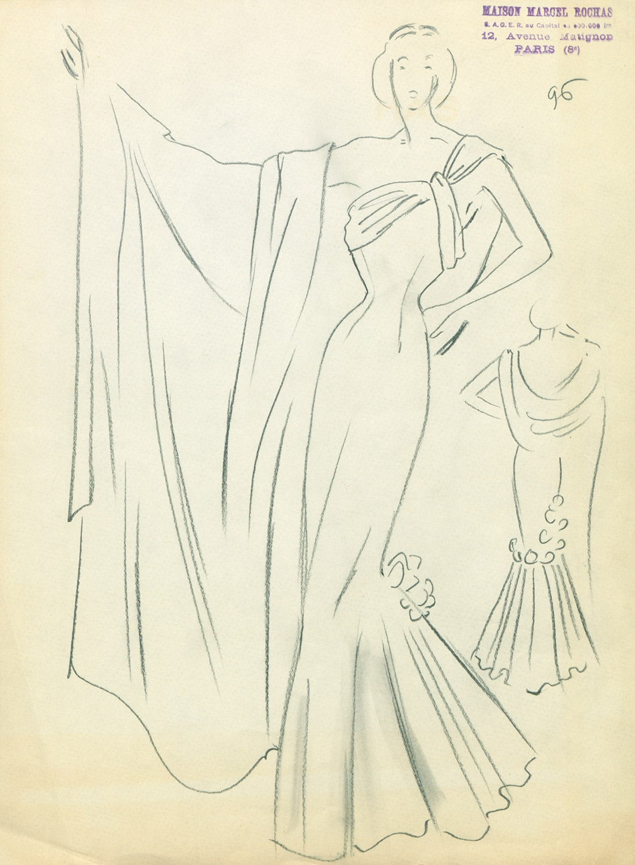 robe-sirene-1948-rochas-mode-dessin