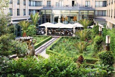 Le Patio Andalou de l'Hôtel du collectionneur