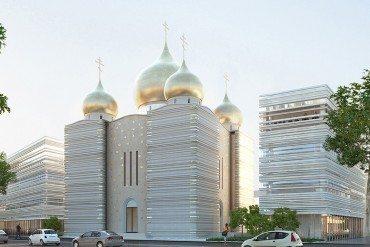 Une cathédrale orthodoxe russe en bord de Seine!