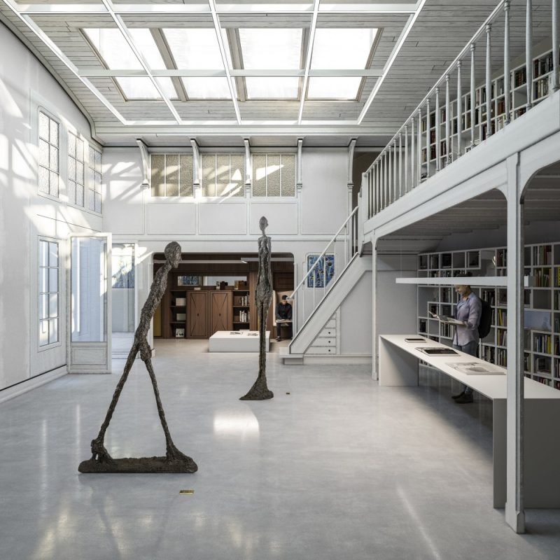 Institut Giacometti interieur scultpures paris
