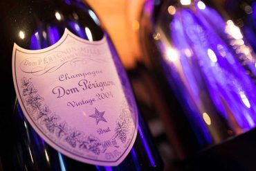 Exceptional Dom Pérignon bottles at Plaza Athénée