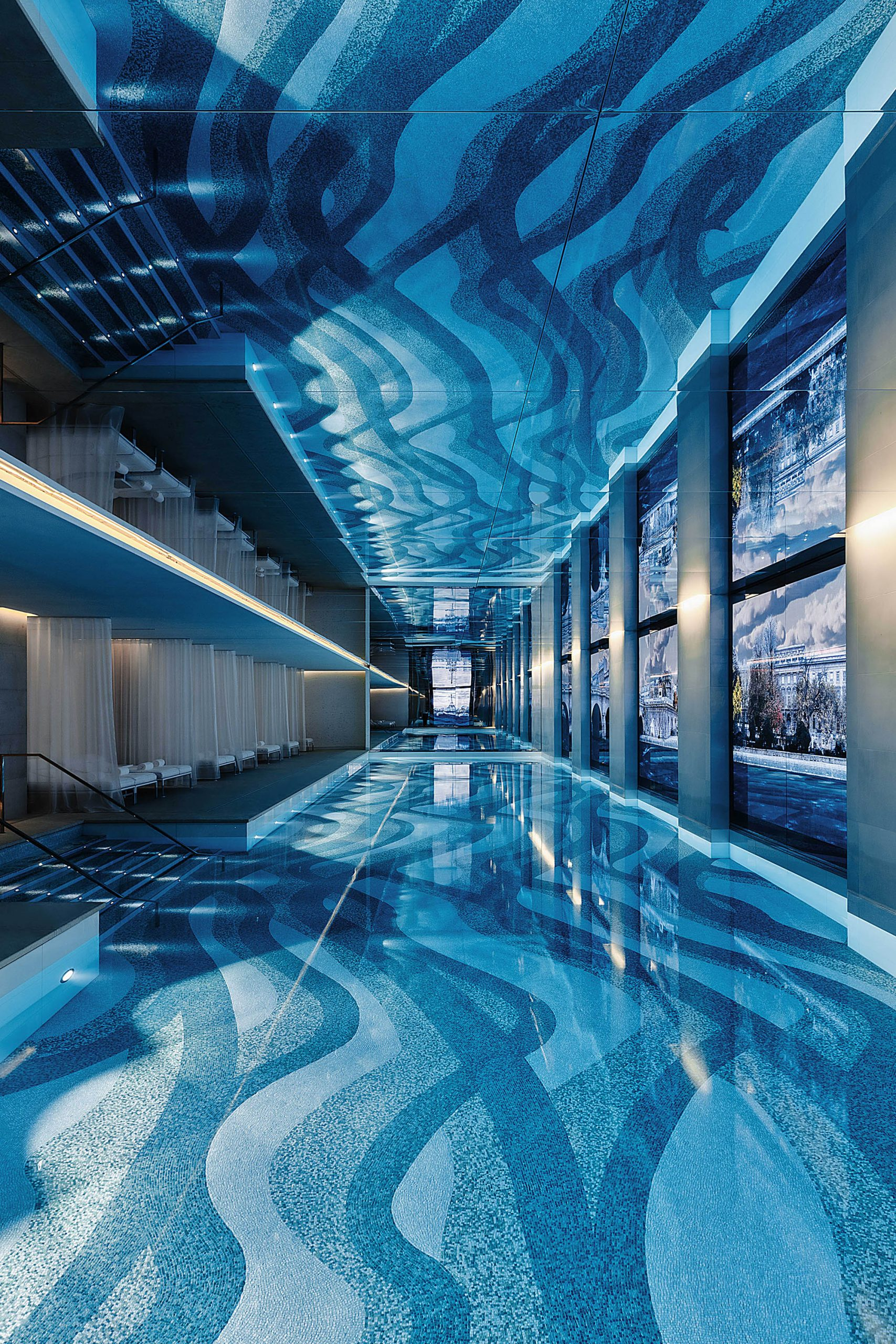 Hôtel Cheval Blanc, la piscine